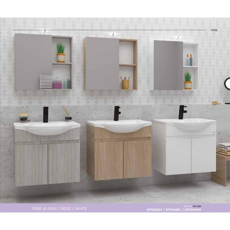 Set FIORE 65 Gray / Beige / White