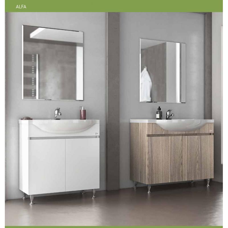 Set ALFA 75 White / Silver Gray No 2