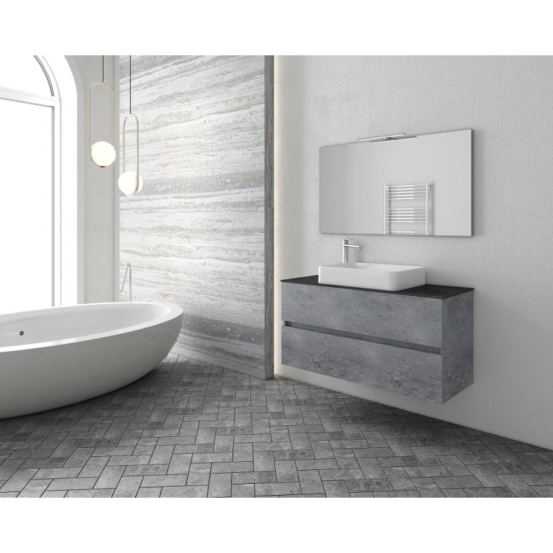 LUXUS 100 Top -1 Granite / PL Wood / White