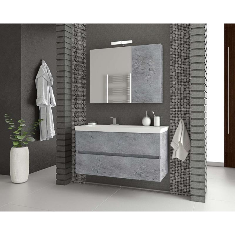 LUXUS 100 Granite / PL Wood / White