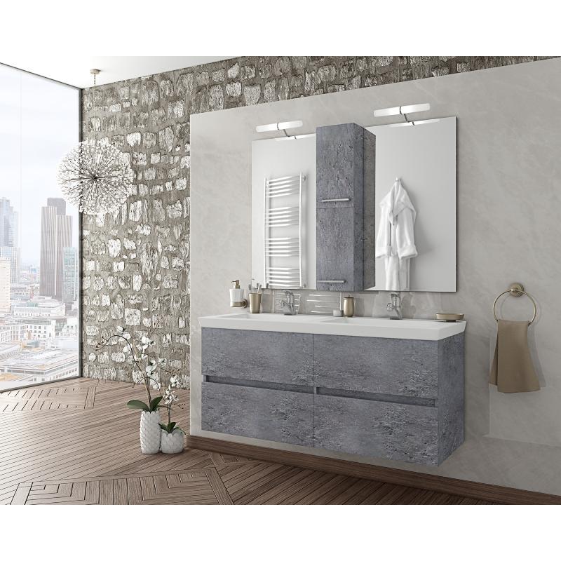 LUXUS 120 Granite / PL Wood / White