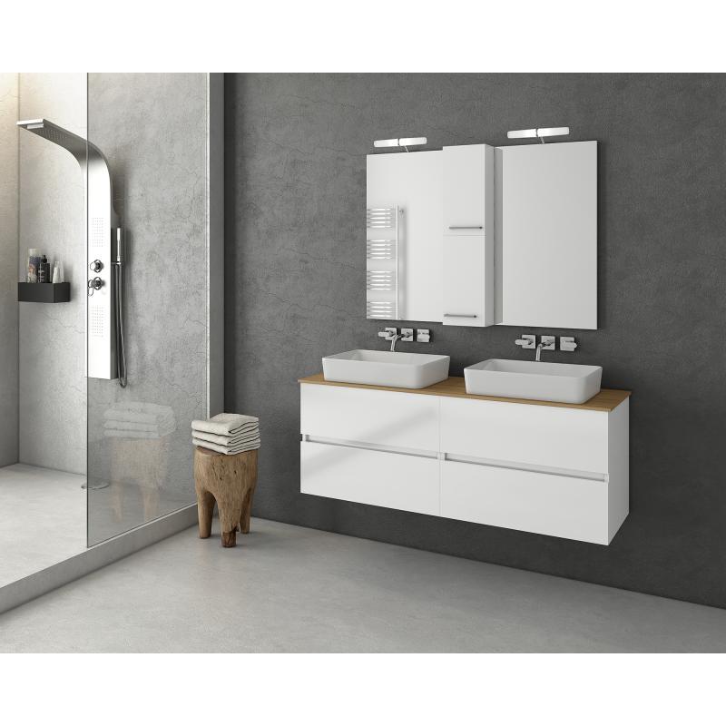 LUXUS 140 Granite / PL Wood / White