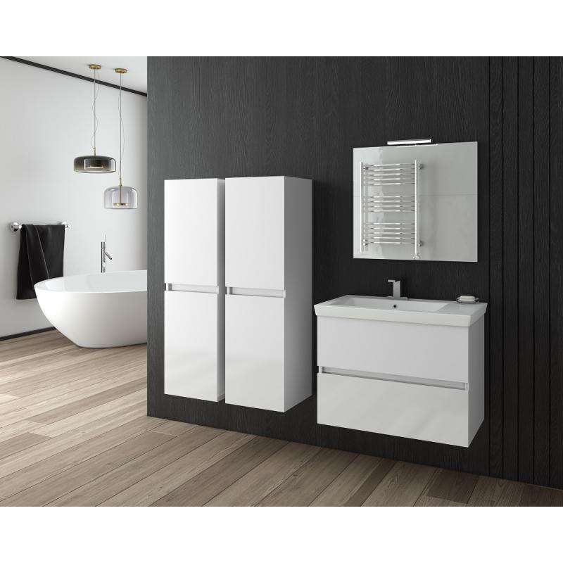 LUXUS 70 -1 Granite / PL Wood / White Με Πλαϊνές Στήλες