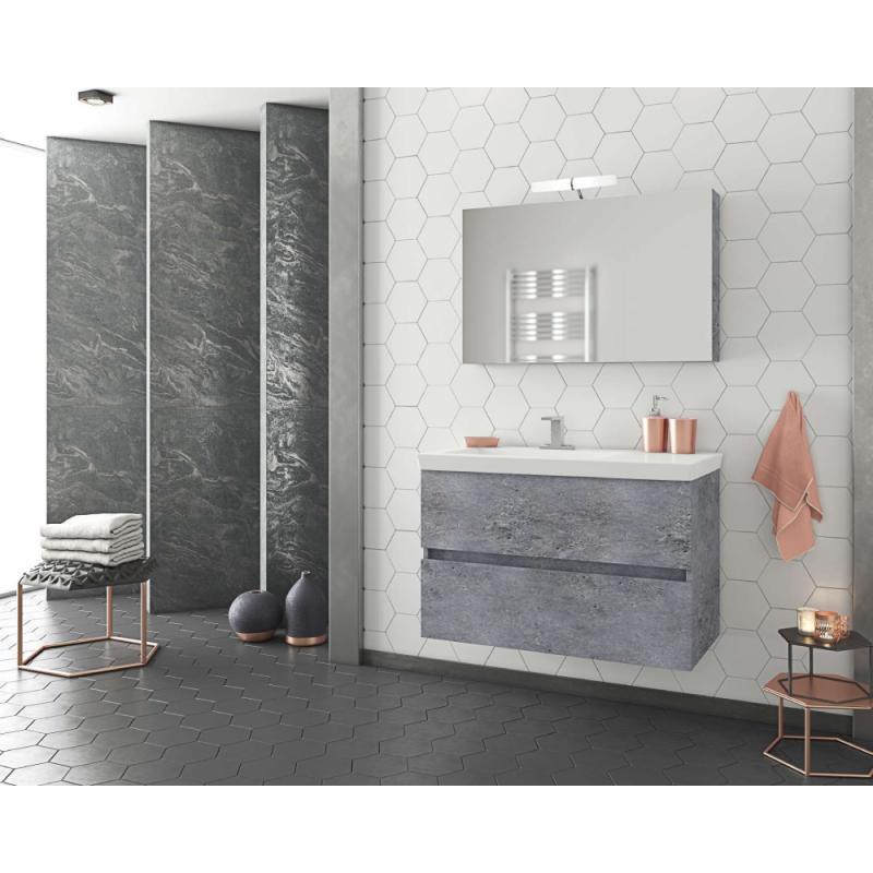 LUXUS 85 Granite / PL Wood / White