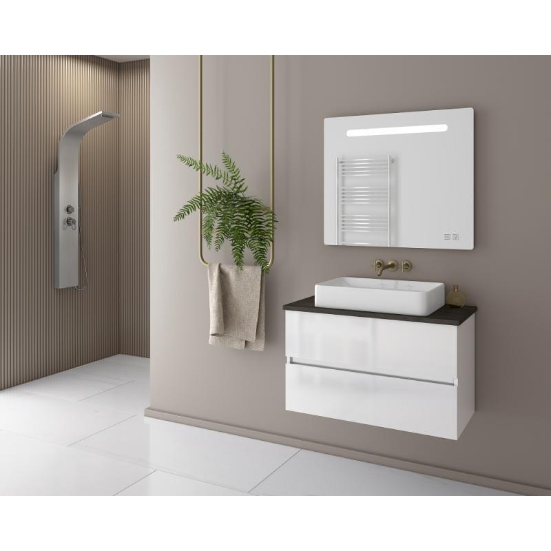 LUXUS 80 Granite / PL Wood / White