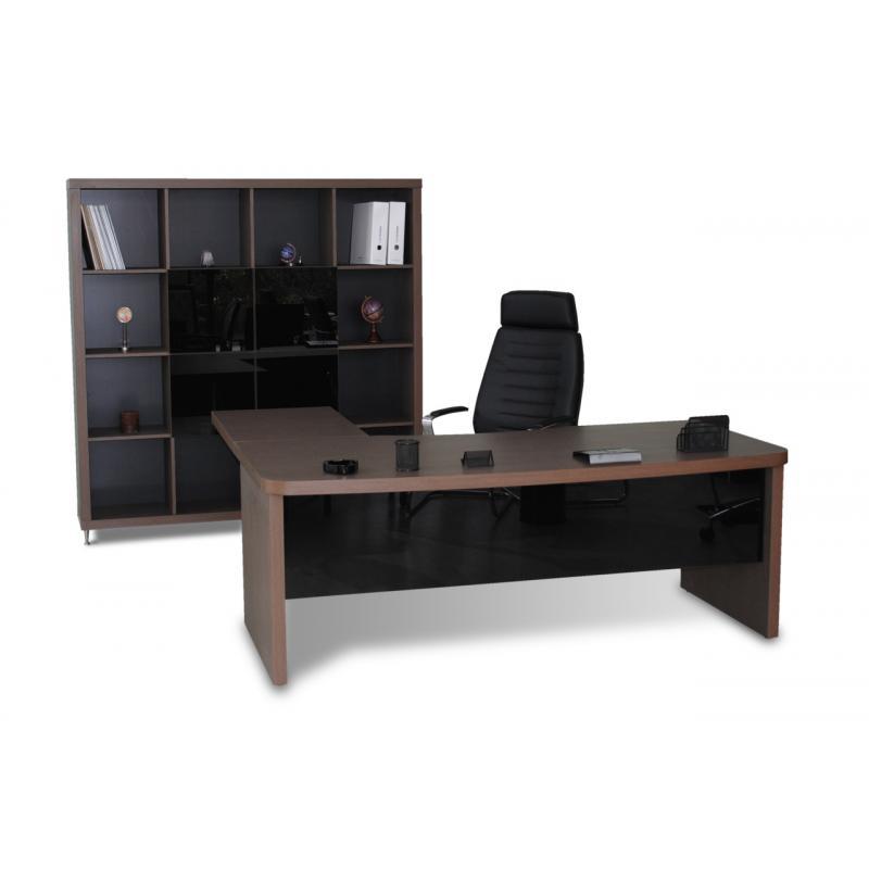 """Διευθυντικό Γραφείο """"Pegasus 1428 με μαύρο τζάμι"""""""
