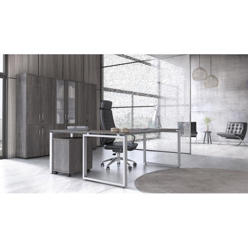 """Γραφείο Εργασίας """"Prisma με τεχνητό καπλαμά 3058"""""""