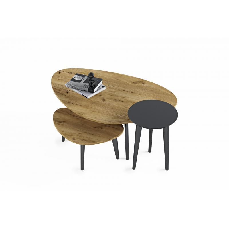 """Ξύλινα τραπέζια σαλονιού """"Wii Λ / Μ"""""""